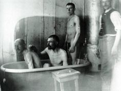 Men in tub
